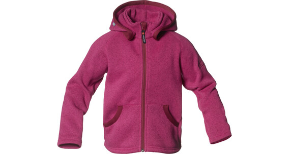 Isbjörn Kids Rib Sweater Hood Fuschia